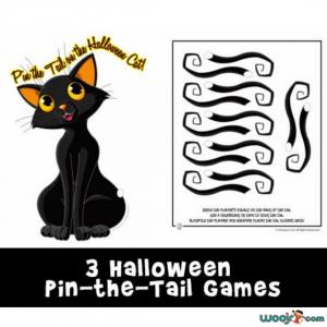 Printable Pin the Tail Halloween Games