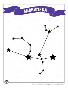 Printable Andromeda Star Chart