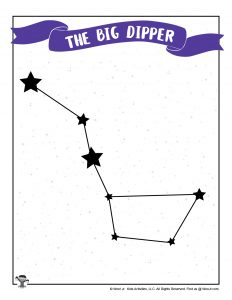 Printable Big Dipper Star Chart