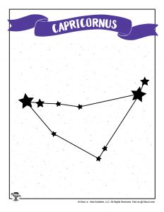 Printable Capricorn Constellation