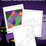 Printable Halloween Tangram Puzzles