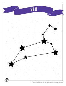 Printable Leo Astrology Star Chart