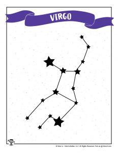 Virgo Star Chart Drawing Practice