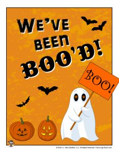 We've Been Booed Printable Page