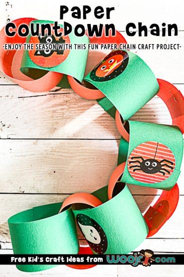 Paper Countdown Chain Halloween Craft