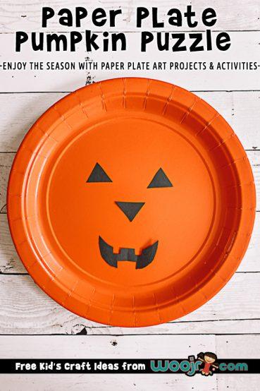 Paper Plate Pumpkin Puzzle Craft