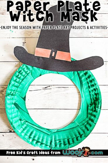 Paper Plate Witch Mask Project