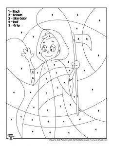 Halloween Color By Number Pages Woo Jr Kids Activities