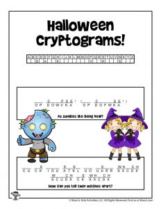 Halloween Word Puzzle for Kids