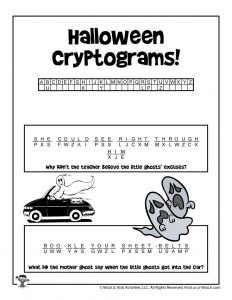 Encrypted Halloween Riddle for Kids - KEY