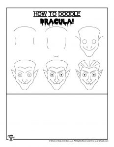 Dracula Halloween Drawing Tutorial for Kids