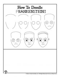 Halloween How to Draw Frankenstein