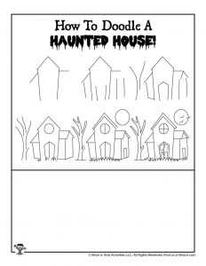 How to Draw Haunted House Lesson