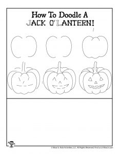 Drawing Tutorial Halloween Jack o'lantern