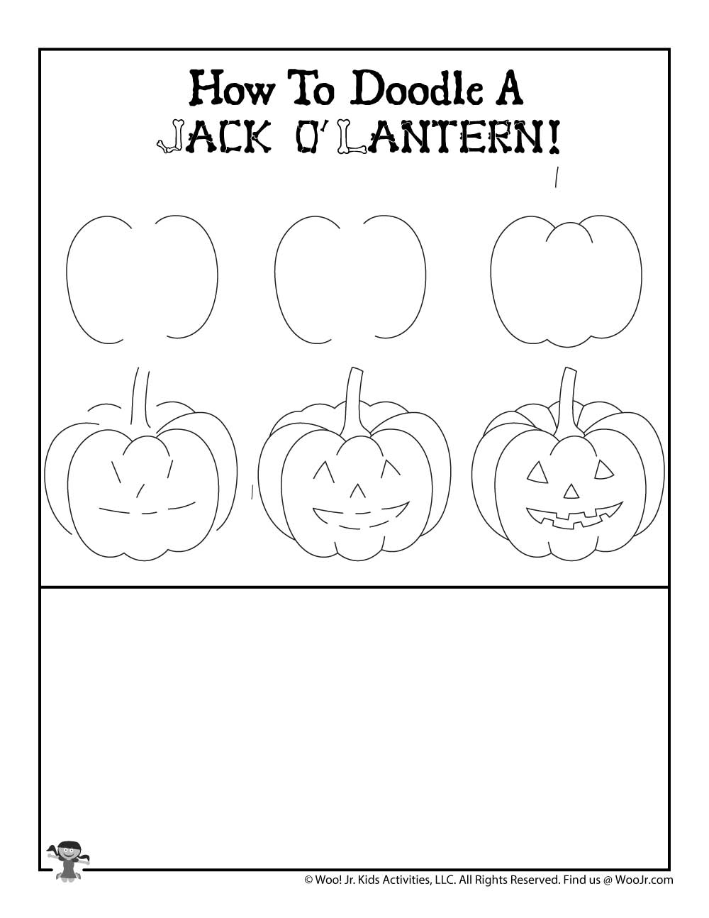 Drawing Tutorial Halloween Jack O Lantern Woo Jr Kids Activities