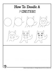 Easy Drawing Halloween Monster