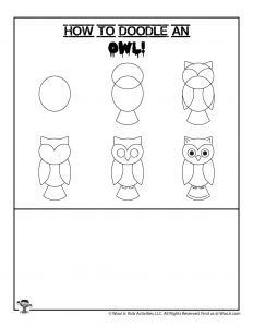 Halloween Owl Drawing Lesson for Kids