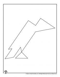 Crow Halloween Tangram Puzzle