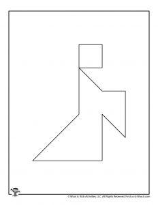 Halloween Ghost Tangram Puzzle