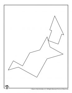 Witch Halloween Tangrams Puzzle
