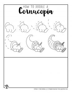 Cornucopia Drawing Practice for Kids