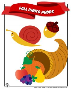 Cornucopia Snail Printable Photo Booth Props