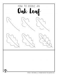 DIY Oak Leaf Doodle