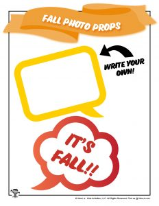 Fall Photo Prop Speech Bubbles
