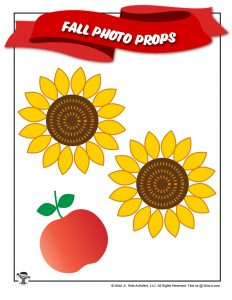 Fall Sunflower Printable Decor Props