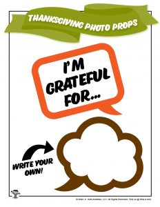 Grateful Thanksgiving Printable for Kids