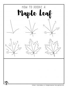 Maple Leaf Drawing Tutorial for Kids