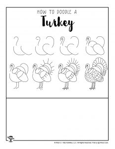 Thanksgiving Turkey Drawing Lesson