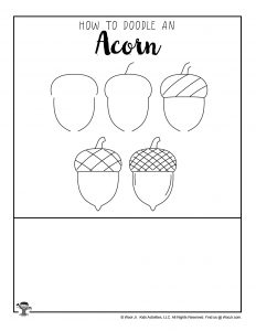 Autumn Acorn Drawing Guide for Kids
