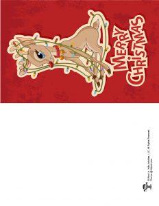 Print at Home Reindeer Christmas Card
