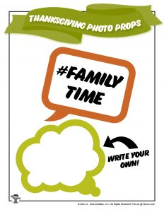 Printable Family Time Photo Props