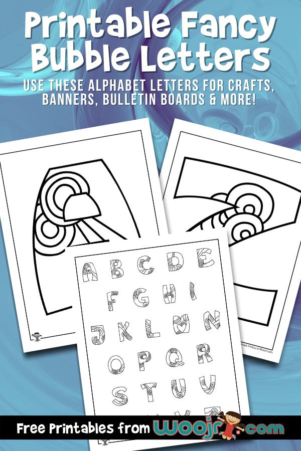 Printable Fancy Bubble Letters