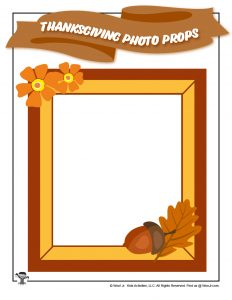 Printable Photo Frames Fall Thanksgiving