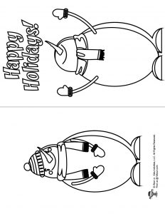 Snowman Winter Holiday Coloring Card