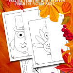 Thanksgiving Mirror Drawing Worksheets