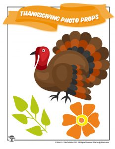 Thanksgiving Turkey Photo Props for Kids