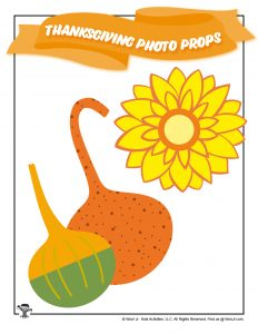 Thanksgiving Squash Sunflower Printable
