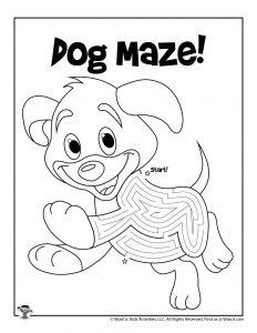 Puppy Dog Maze Puzzle Activity