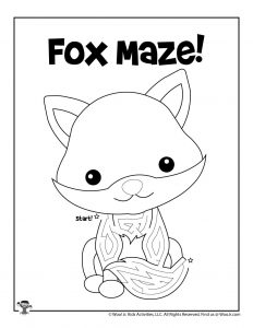Fox Maze Activity Worksheet