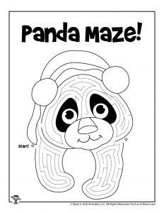 Panda Maze Activity Sheet for Kids