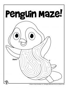 Penguin Animal Maze Puzzle