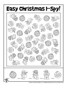 Easy Christmas I Spy Game