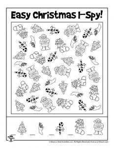 Free Printable Christmas I Spy