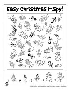 Free Printable Christmas I Spy - KEY