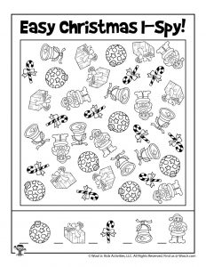 I Spy Activity Christmas Game