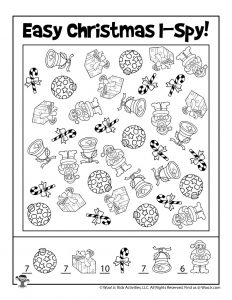 I Spy Activity Christmas Game - KEY